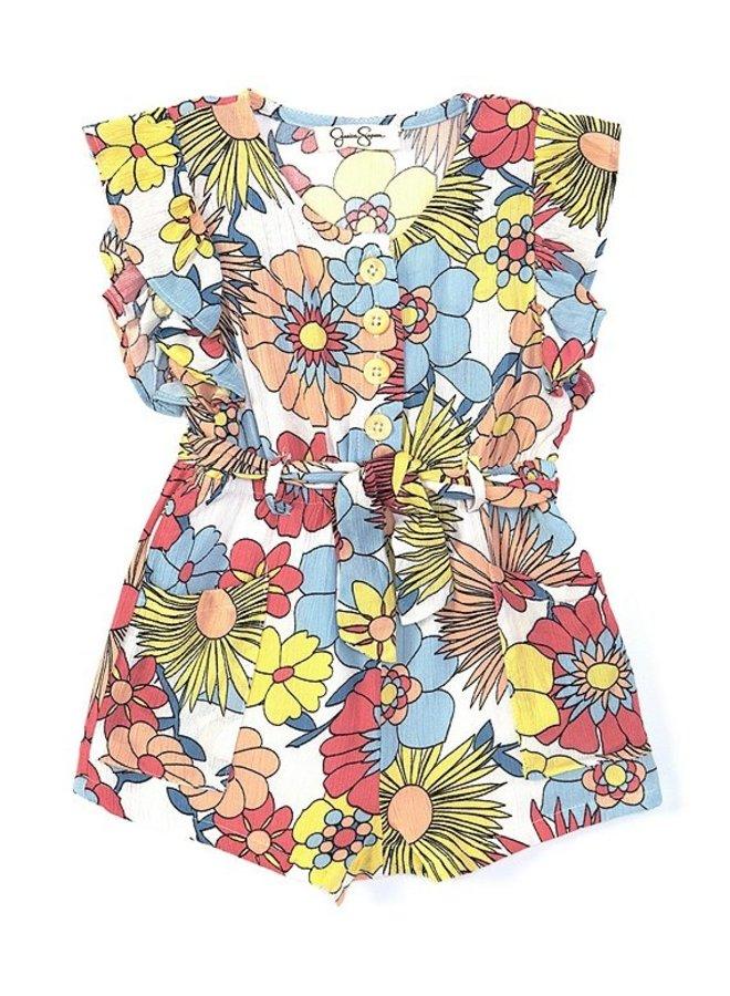 Floral Pocket Romper
