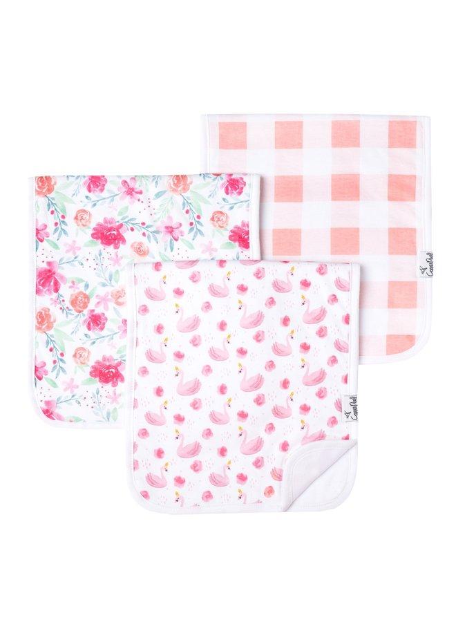 Girl 3-Pack Burp Cloths