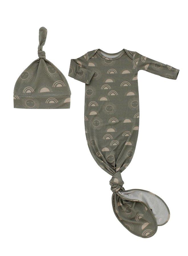 Newborn Gown & Hat Set