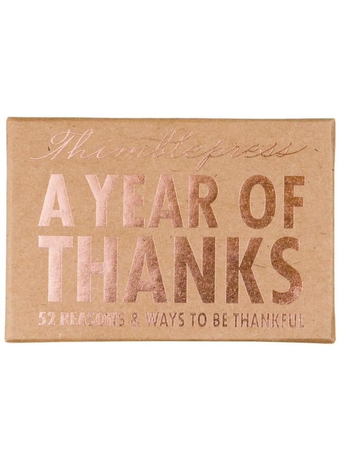 A Year of Thanks Cards