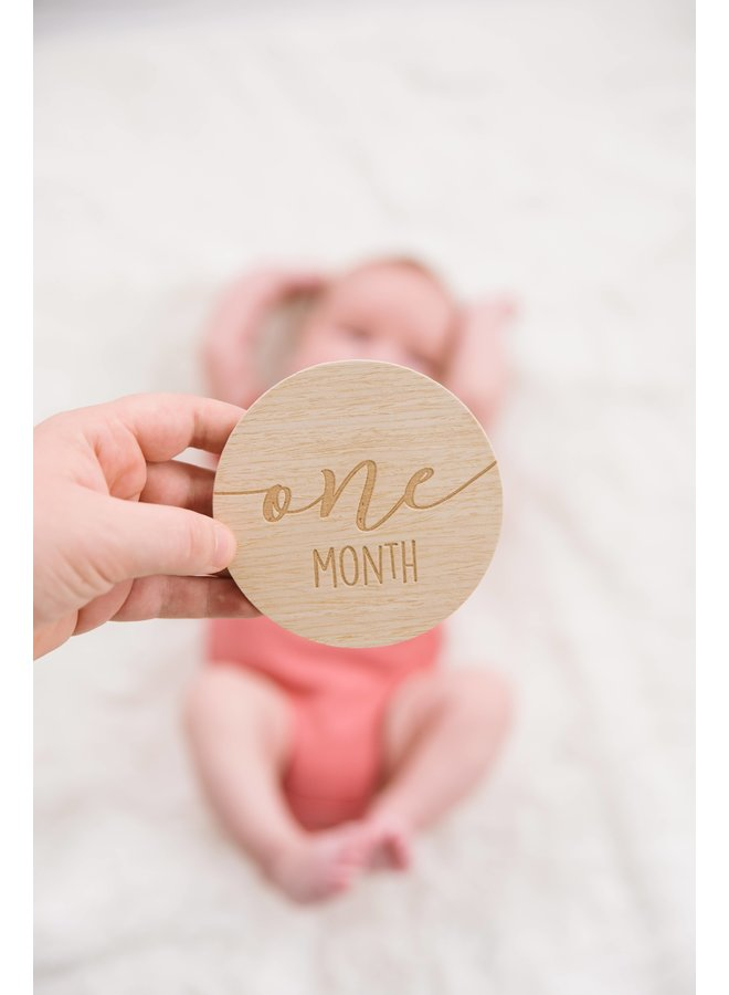 Monthly Milestone Wood Photo Cards