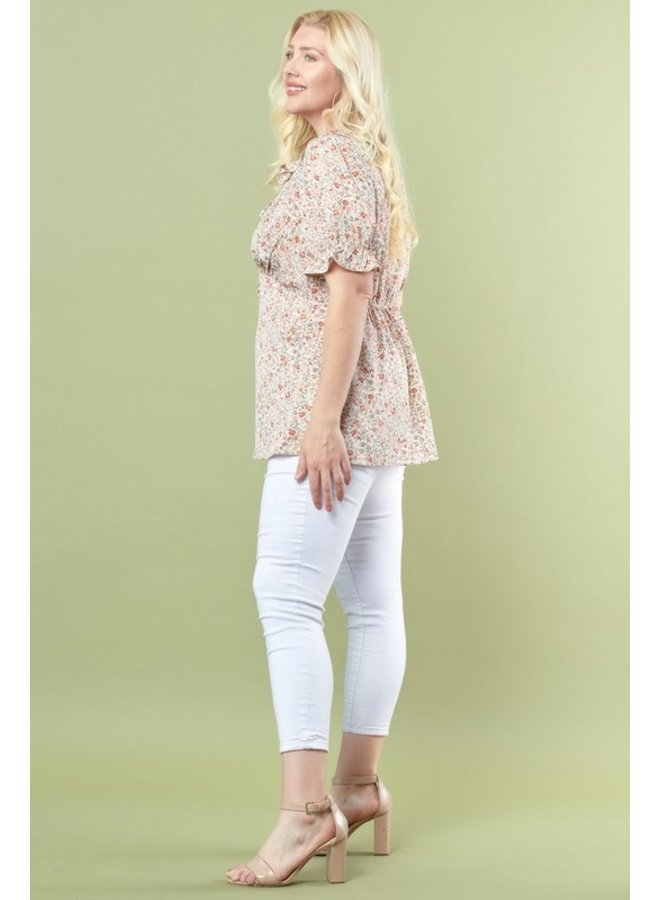 Floral Fit & Flare Blouse