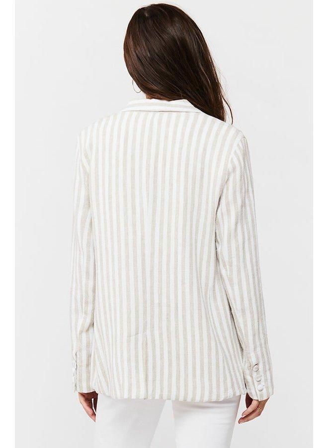Stripe Linen Blazer
