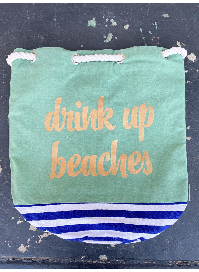 """""""Drink Up Beaches"""" Insulated Cooler Tote"""