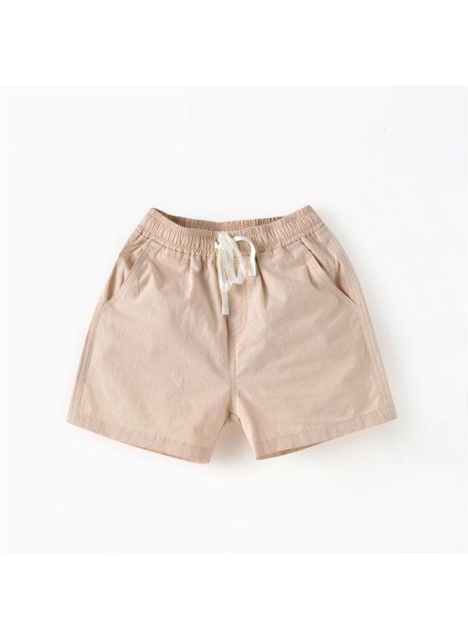 Khaki Drawstring Shorts