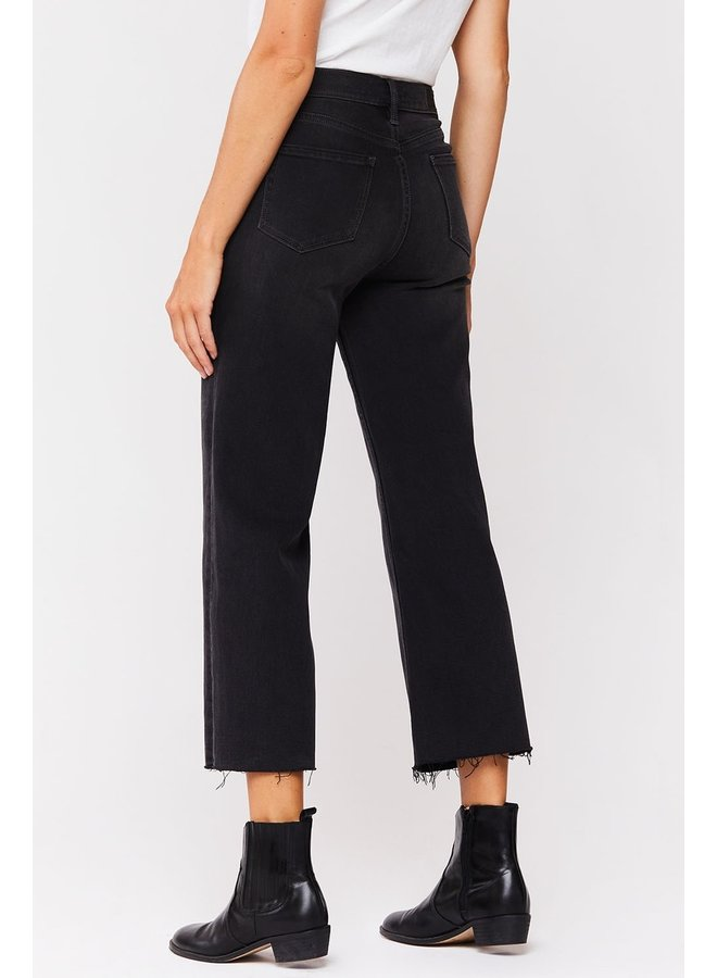 Wide Leg Stretchy Crop Jeans