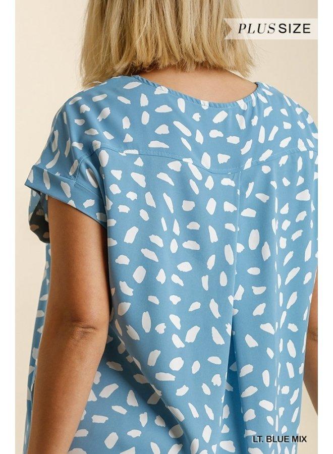V-Neck Dalmatian Dress