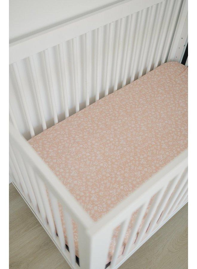 Muslin Wildflower Crib Sheet