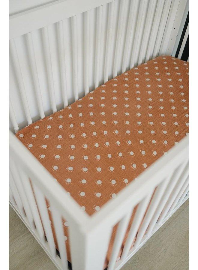 Muslin Sunshine Crib Sheet