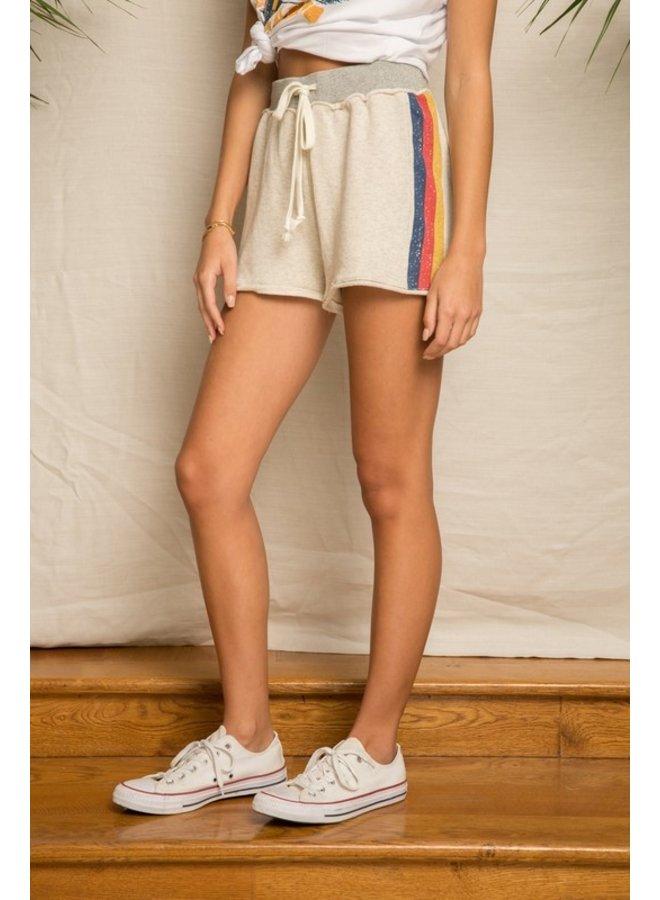 Stripe Terry Shorts