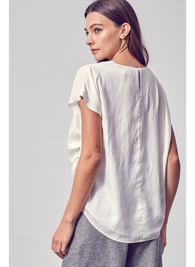 Side Ruched Drape Top