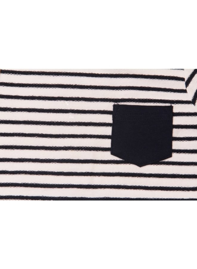 Stripe Pocket Romper