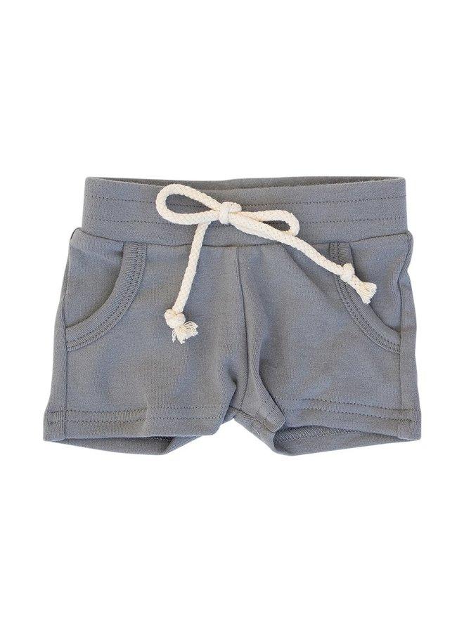 Slate Cotton Pocket Shorts
