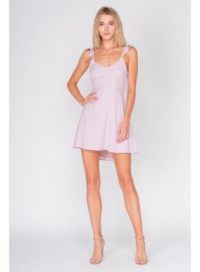 Open Back Ruffle Sleeve Dress