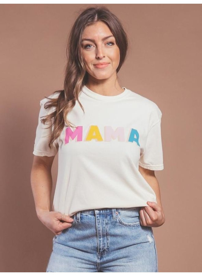 Mama Color Block Tee