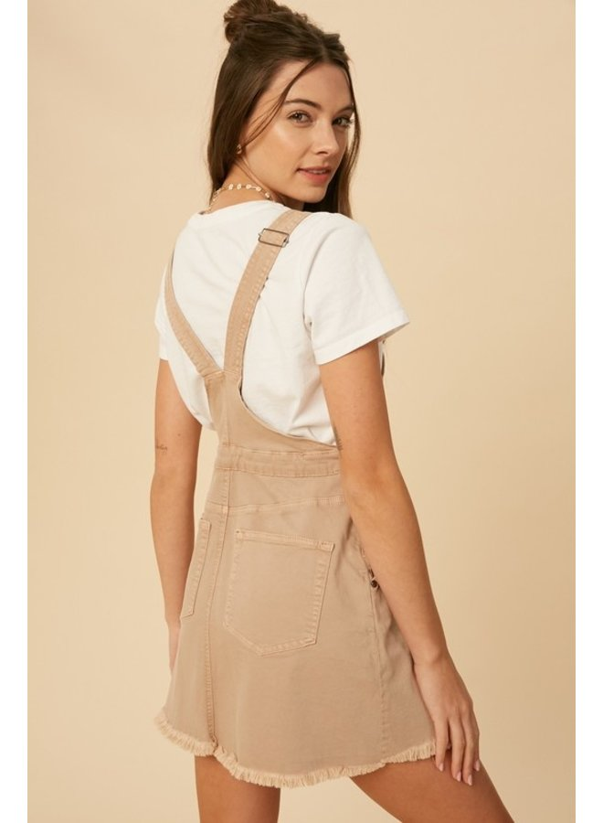 Washed Denim Overall Dress