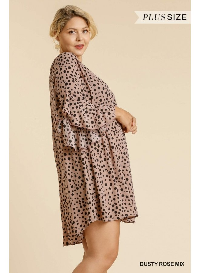 Dalmatian Split Neck Dress