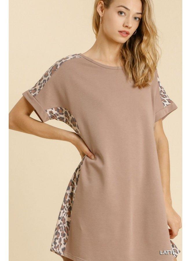 Terry Animal Print Dress