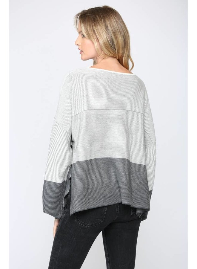 Ombre Ribbed Sweater