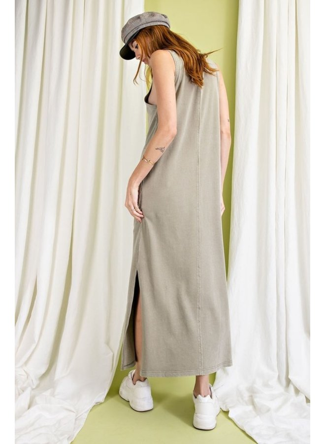 Sleeveless Terry Knit Maxi Dress