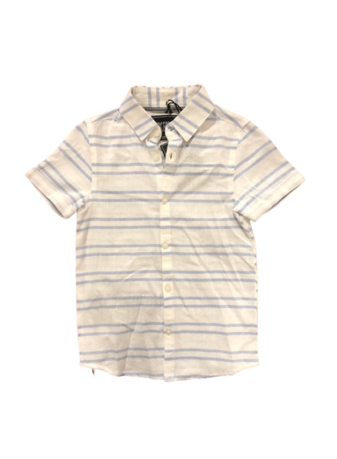 Striped Button Up Polo