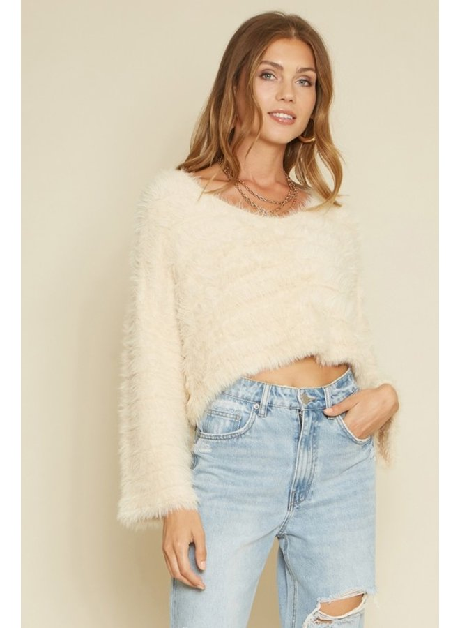 Bell Sleeve Cropped Sweater