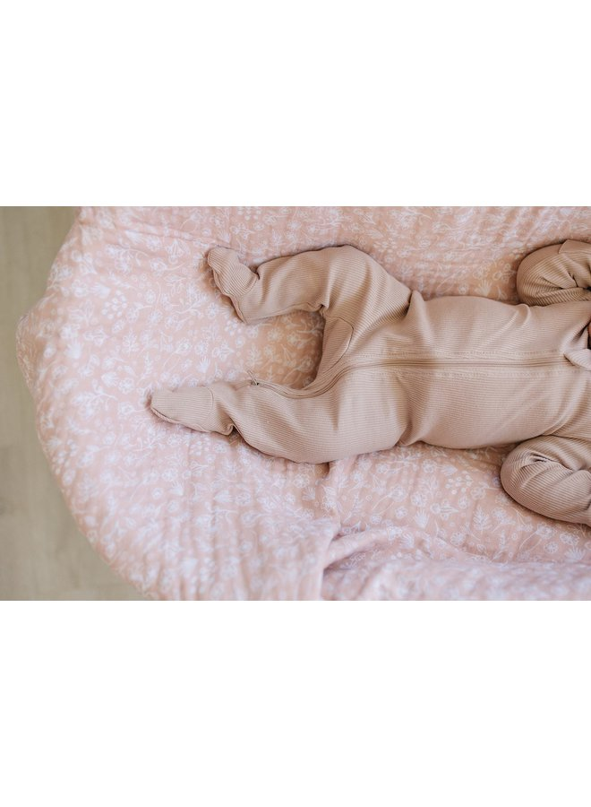 Pink Organic Footed Romper