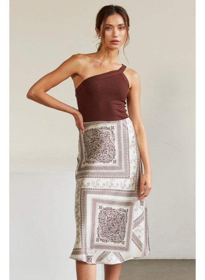 Satin Bandana Skirt