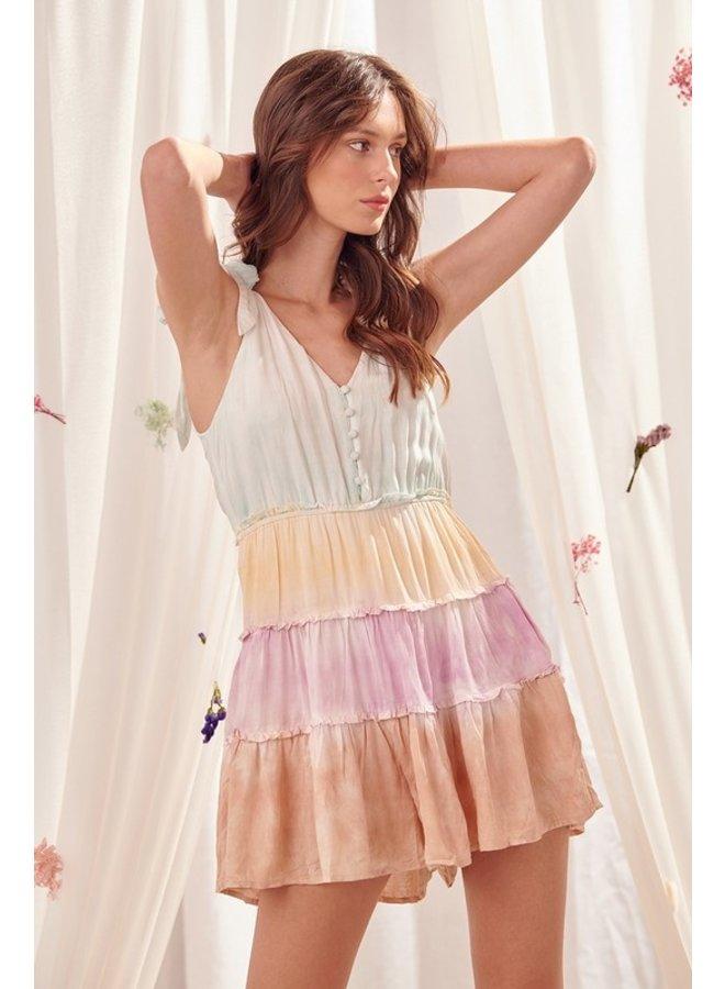 Multi Colored Mini Dress