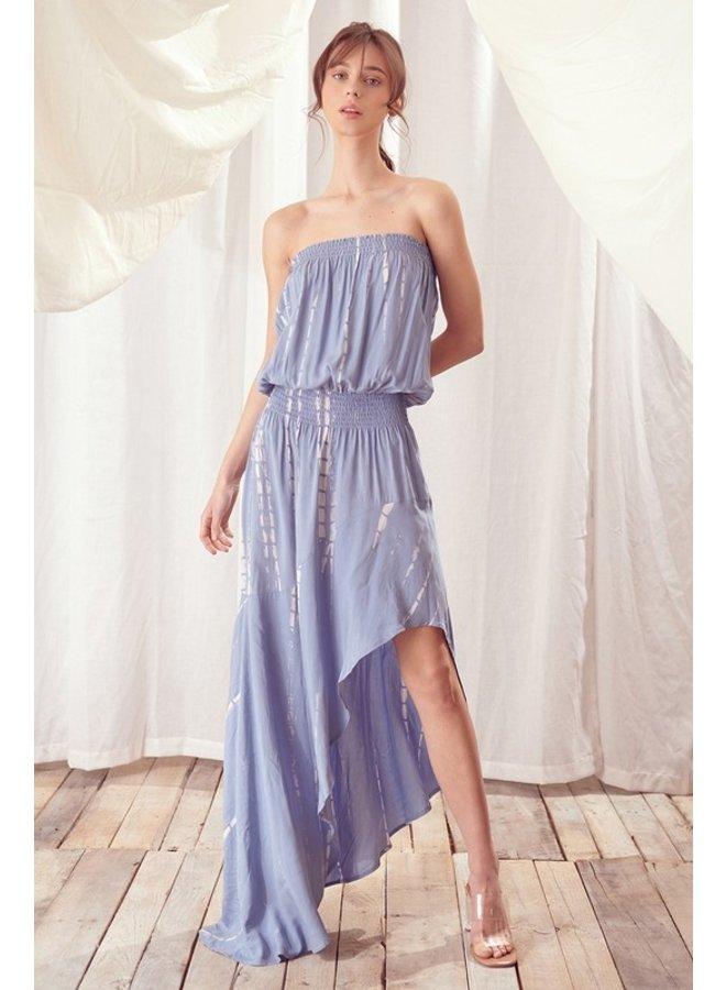 Strapless Tie-Dye Dress