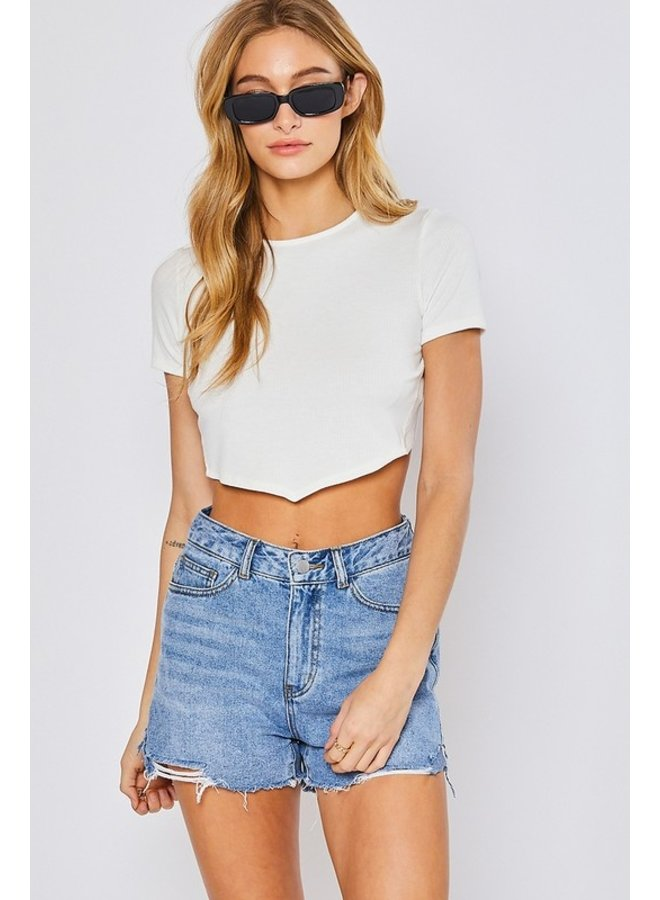 Open Back Cropped Tee