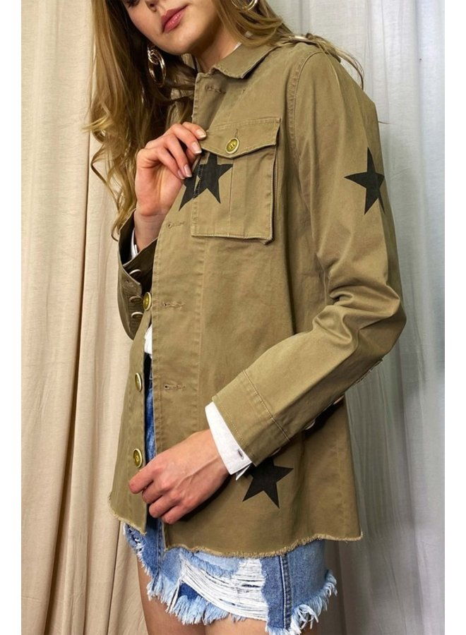 Star Raw Hem Jacket