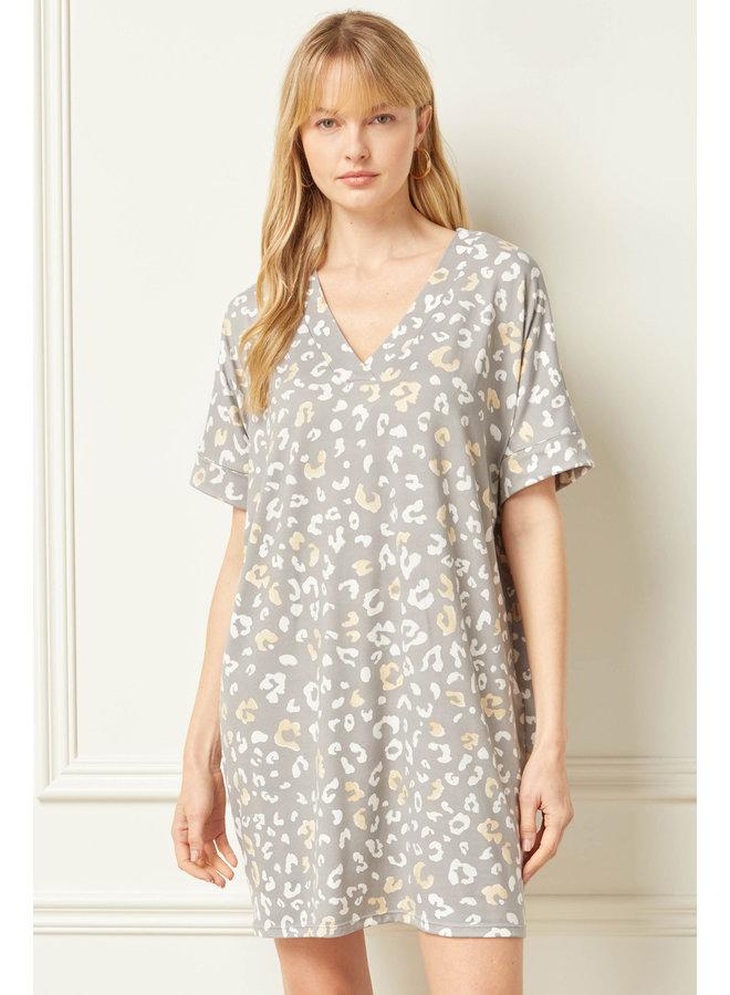 Leopard T-Shirt Dress