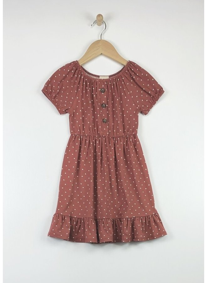 Ruffle Button Dress