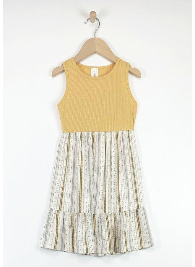 Contrast Ruffle Dress