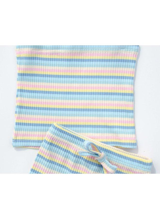 Pastel Striped Tie Strap Set