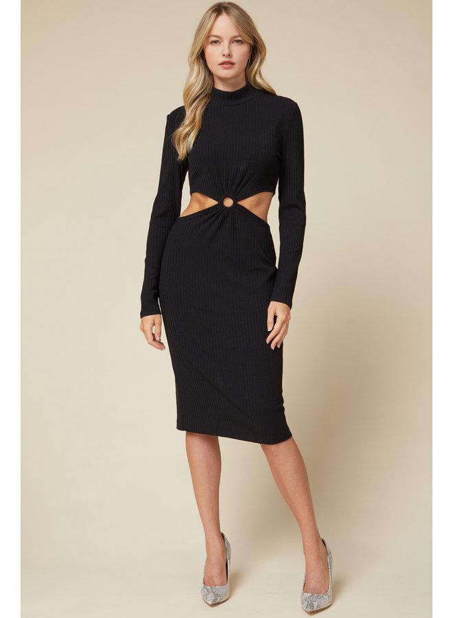 Long Sleeve Cutout Dress