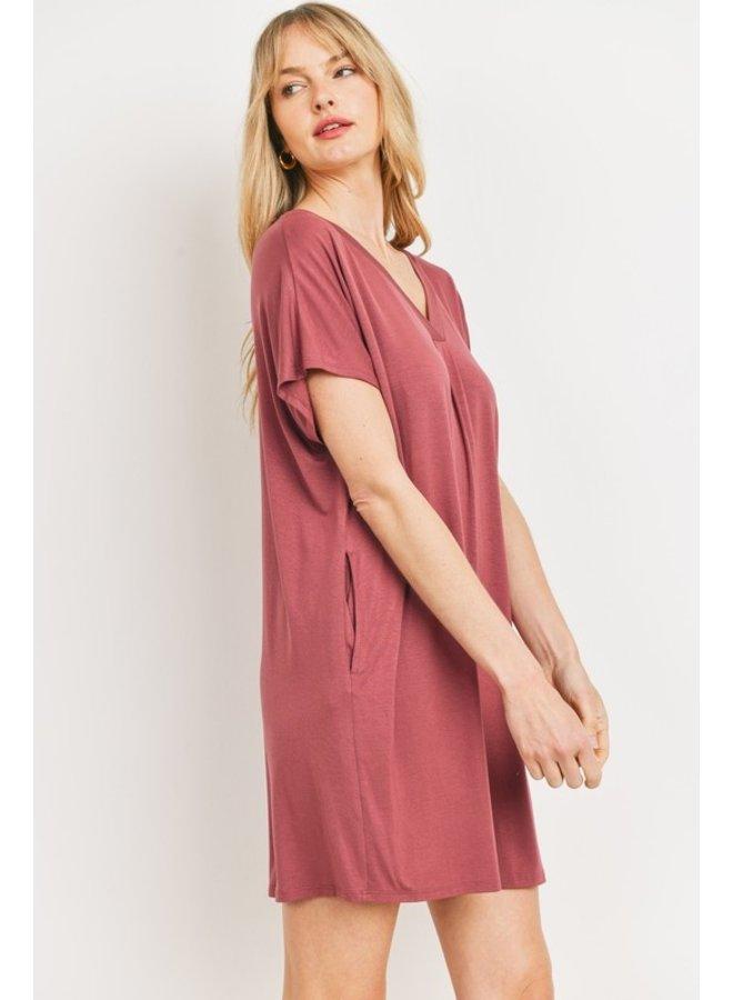 Solid T-Shirt Dress