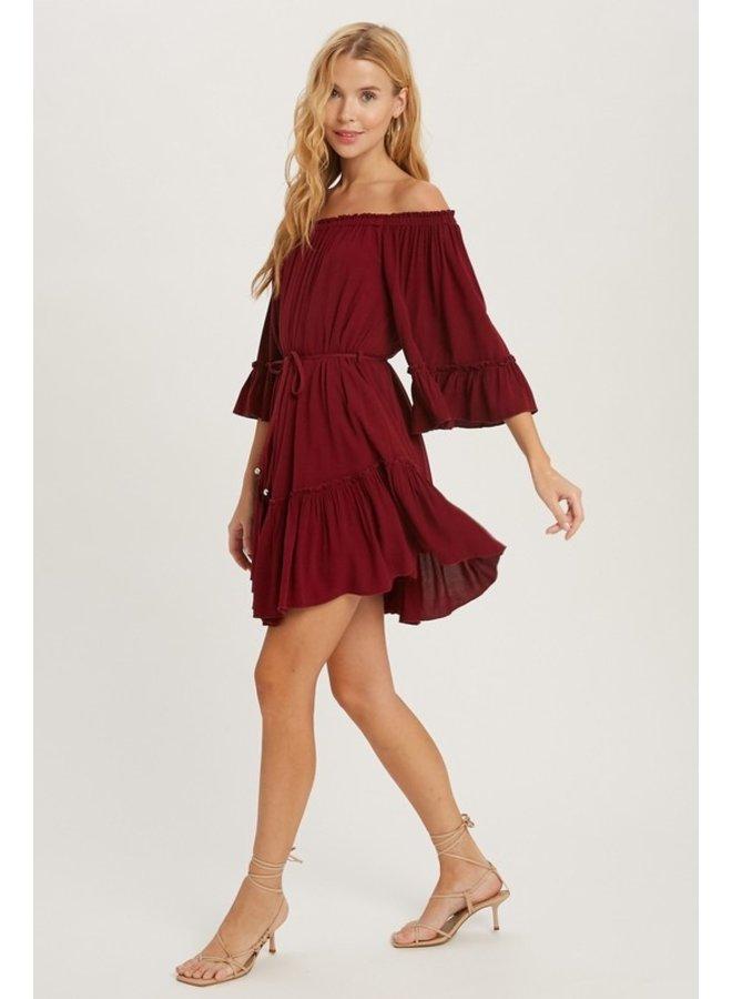 Ruffled Boho Dress