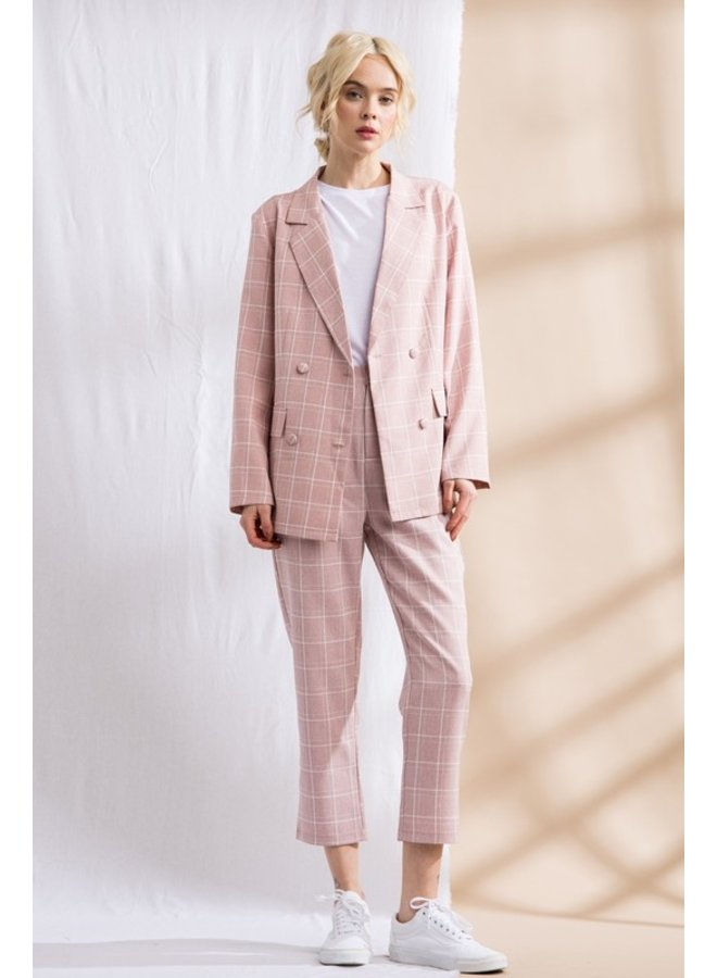 Pink Plaid Trousers