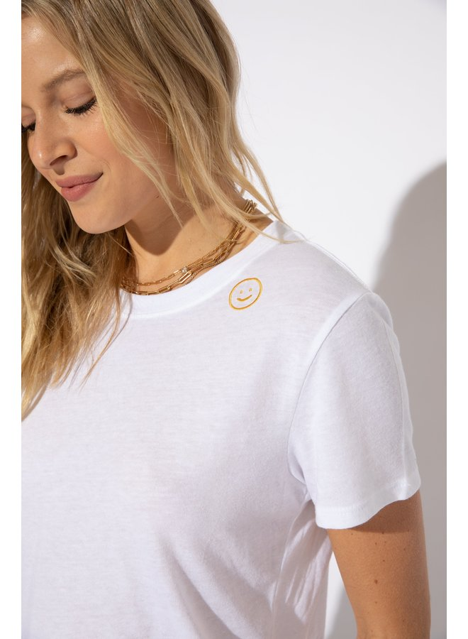 Smiley Embroidered Tee