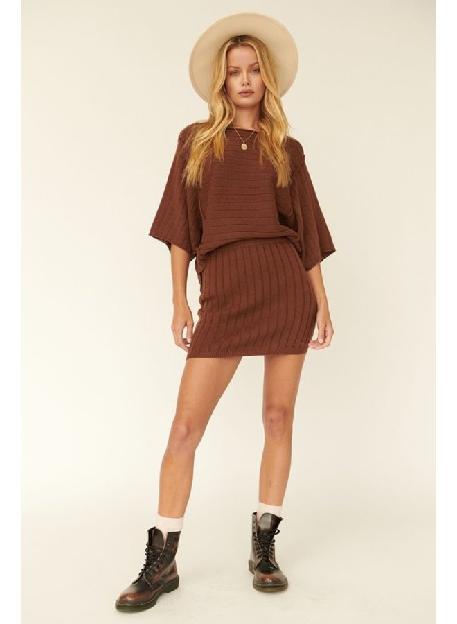 3/4 Sleeve Ribbed Sweater
