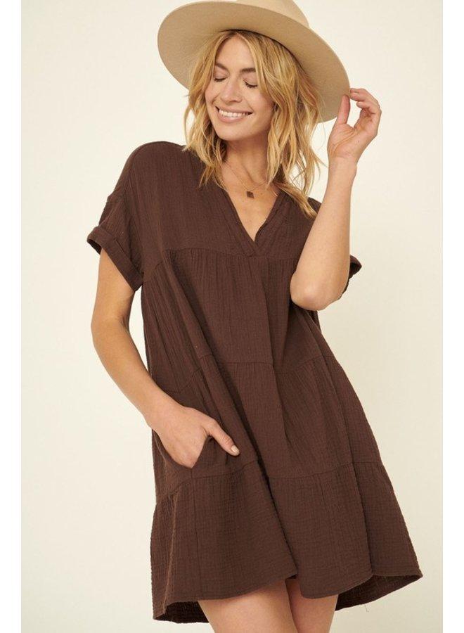 Crinkle Mini Dress