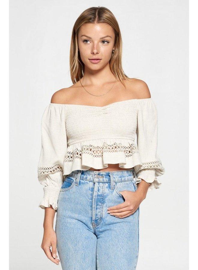 Smocked Crochet Top