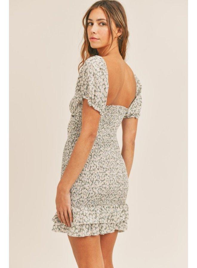 Top Tie Smocked Dress