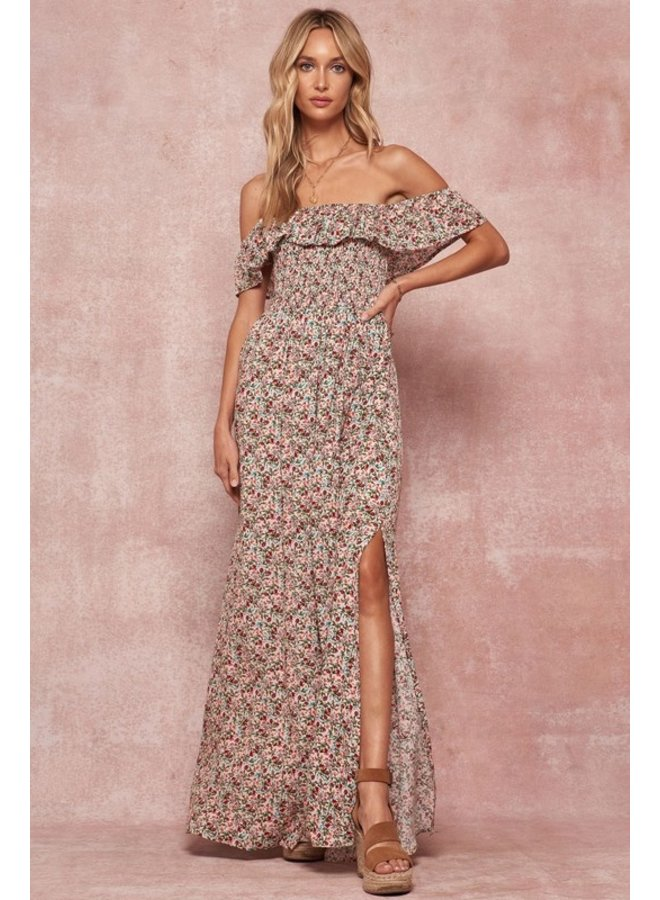 Floral Off-The-Shoulder Maxi Dress
