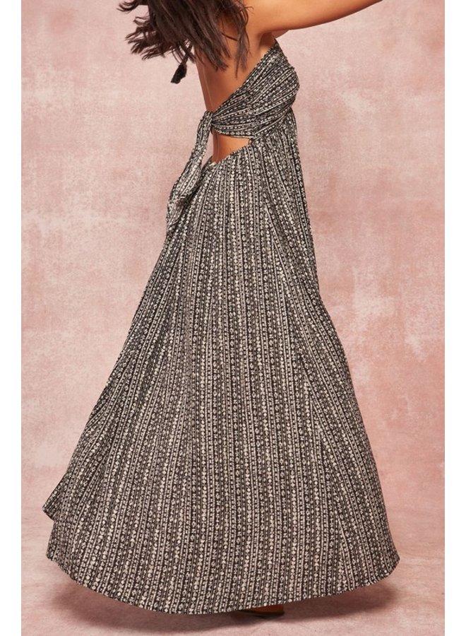 Halter Patterned Maxi Dress