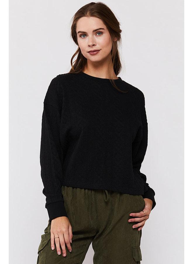 Textured Long Sleeve Sweater