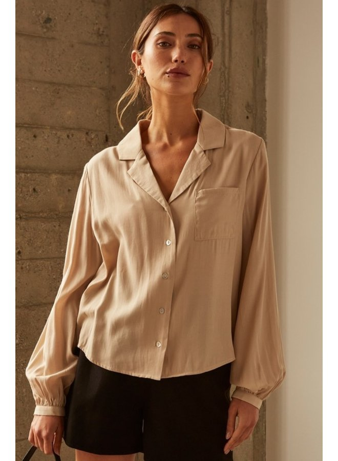 Button Down Collared Blouse