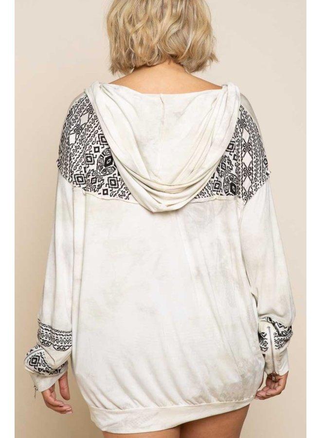 Tie Dye Aztec Sweatshirt